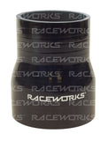 "RACEWORKS SILICONE HOSE REDUCER STRAIGHT 3.25""- 3.5'' (82-89mm) - Quickbitz"