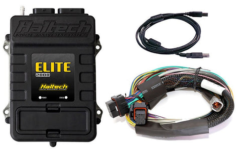 Elite 2000 - 2.5m (8 ft) Basic Universal Wire-in Harness Kit - Quickbitz