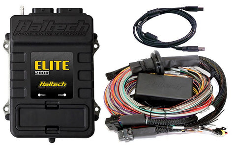 Elite 2000 - 2.5m (8 ft) Premium Universal Wire-in Harness Kit - Quickbitz
