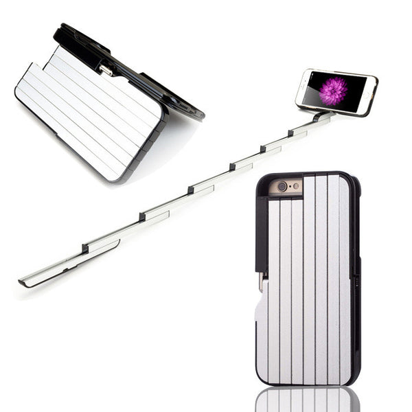 Selfie Stick Case for iPhone  6S 6 S With Bluetooth Remote Shutter