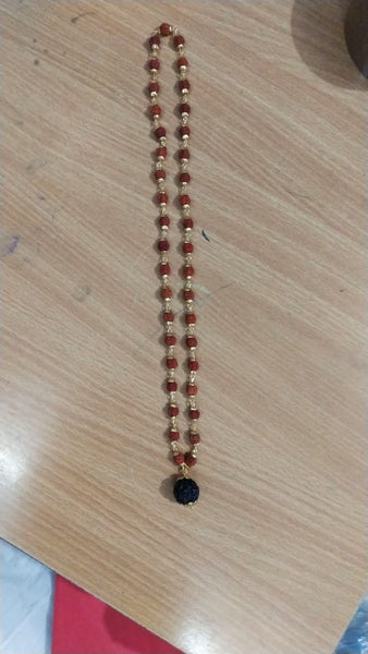 Mala(Rosery)-Rudraksh With Gold polished cap