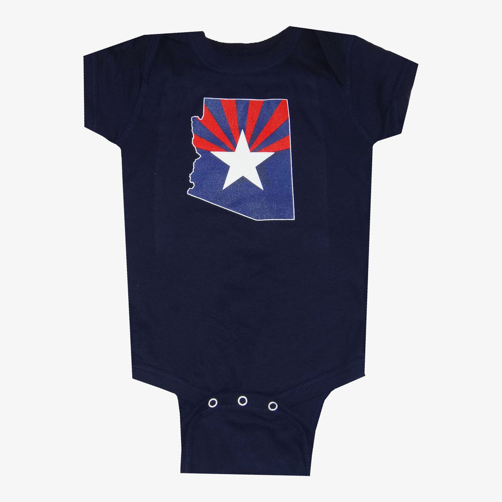 Arizona Flag Onesie - Navy