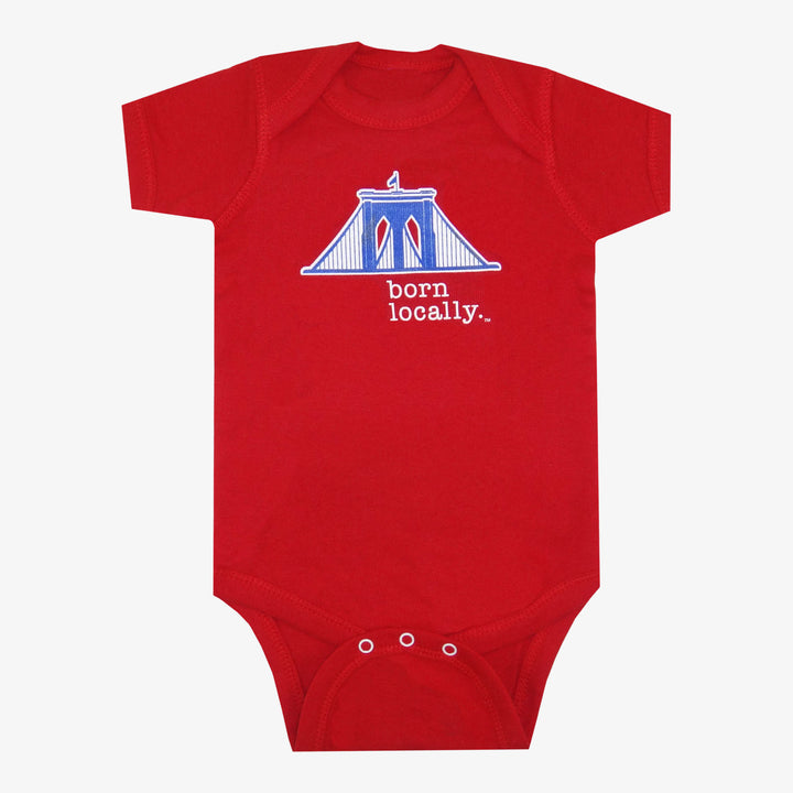 Brooklyn Bridge Born Locally Bodysuit Red