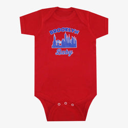 Brooklyn Baby Skyline Bodysuit Red