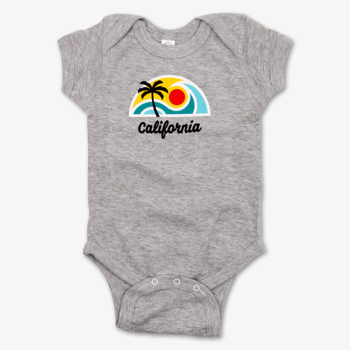 California Surf Onesie - Gray