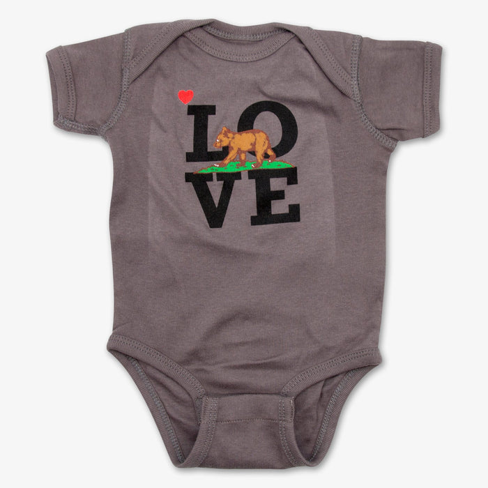 California Cub Love Onesie - Charcoal