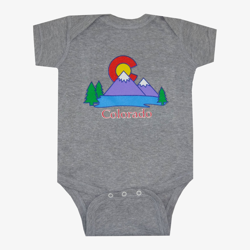 Colorado Lake Onesie - Gray
