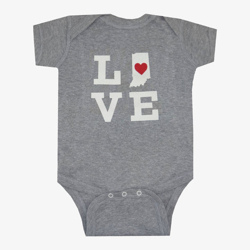 Indiana Love Onesie - Gray