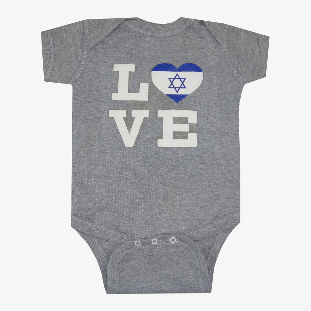 Love Flag of Israel Onesie