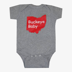 Buckeye Baby Ohio Bodysuit Grey