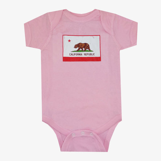 California Flag Onesie - Pink