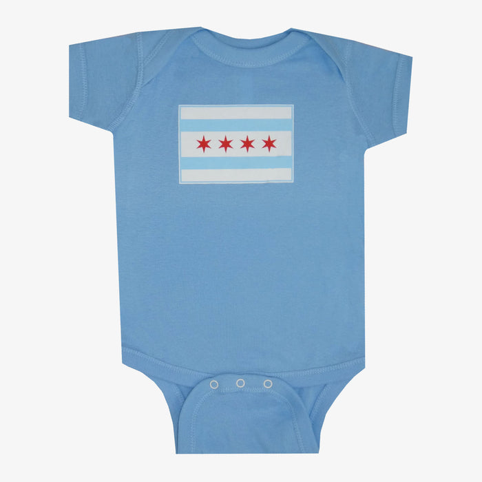 Chicago Flag Onesie - Blue