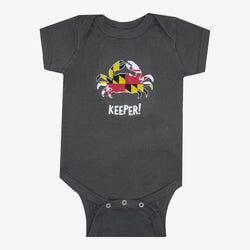 Maryland Crab Keeper Onesie Charcoal