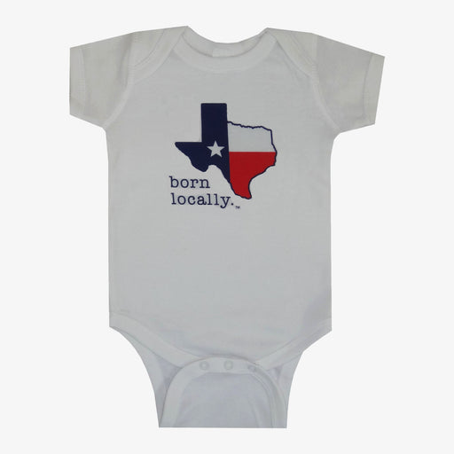 Born Locally Texas Onesie - White