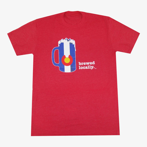 Colorado Brewed Locally T-Shirt - Red