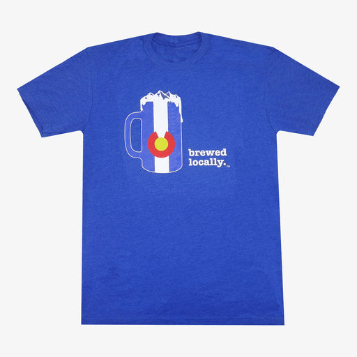 Colorado Brewed Locally T-Shirt - Royal