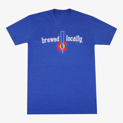 Colorado Brewed Locally Tap T-Shirt - Royal
