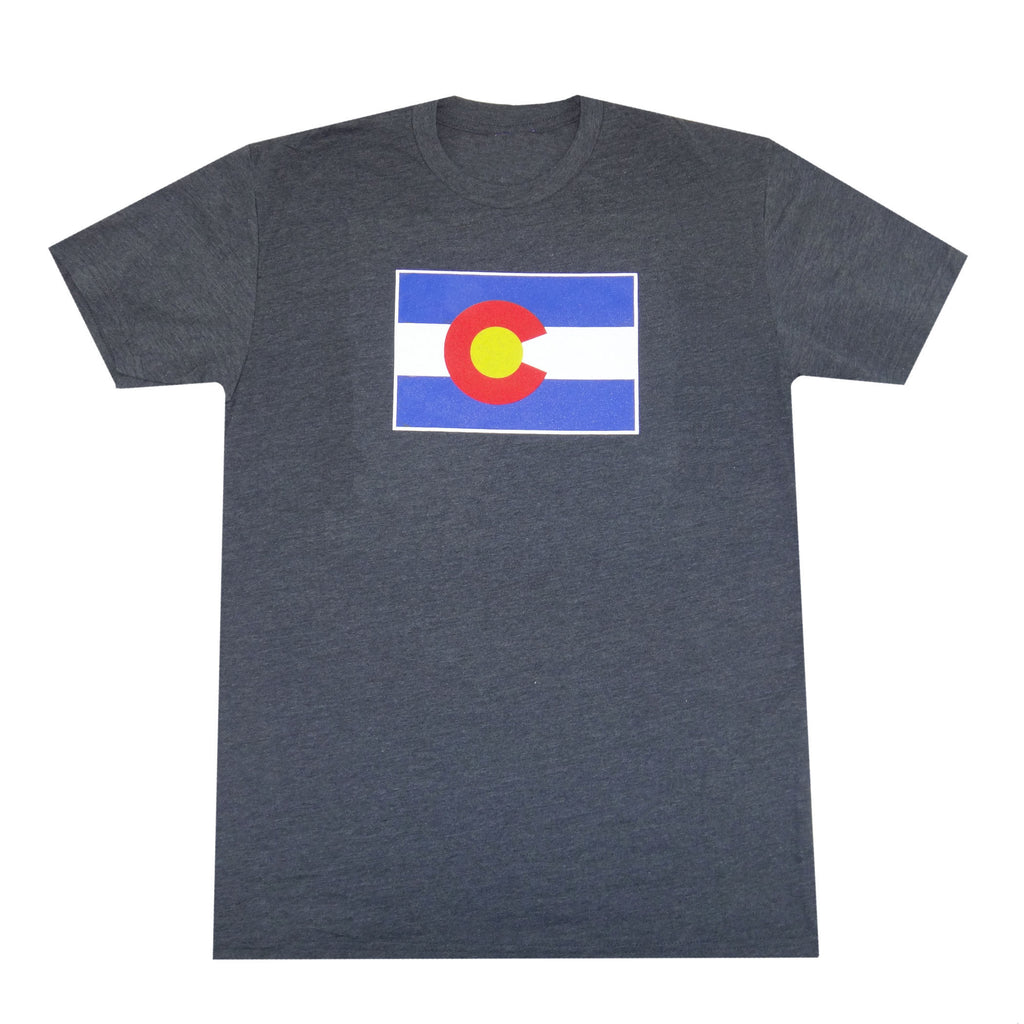 Colorado Flag T-Shirt - Charcoal