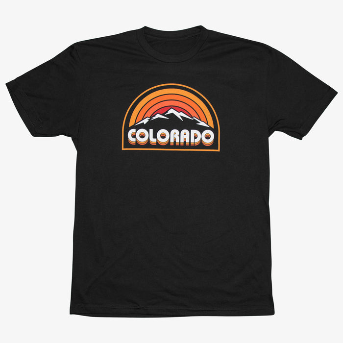 Aksels Retro Colorado Sunset T-Shirt