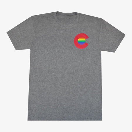 Colorado Rainbow C Men's T-Shirt - Gray