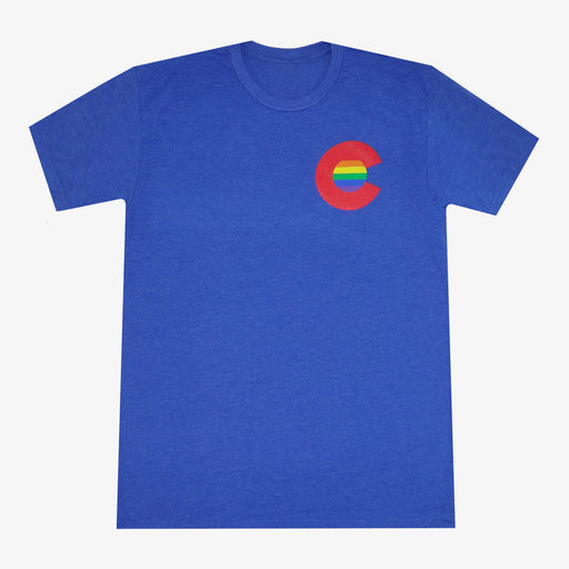 Aksels Colorado Rainbow C Men's T-Shirt - Royal