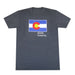 Colorado Grown Locally T-Shirt - Charcoal