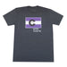 Colorado Grown Locally T-Shirt - Charcoal/Purple