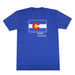 Colorado Grown Locally T-Shirt - Royal