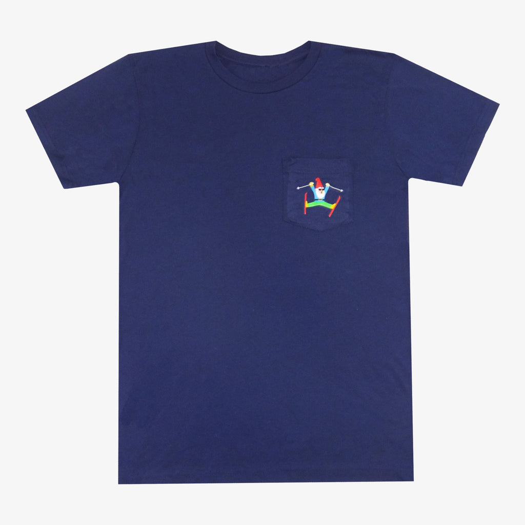 Gnome Skiing T-Shirt - Navy