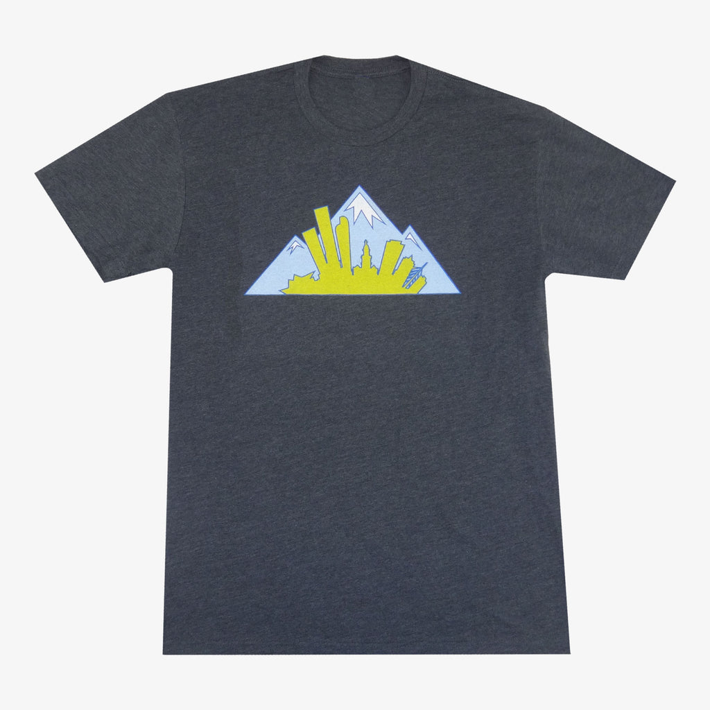Colorado Montage T-Shirt - Charcoal/Baby Blue