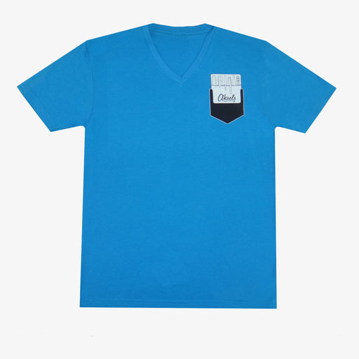 Aksels Pocket Protector V-Neck T-Shirt - Aqua
