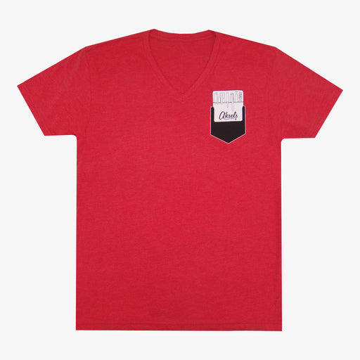 Aksels Pocket Protector V-Neck T-Shirt - Red