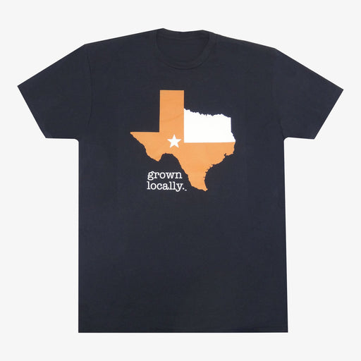 Aksels Grown Locally Texas T-Shirt - Black/Orange