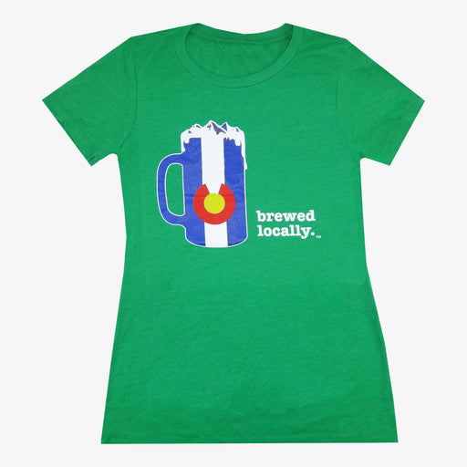 Women's Colorado Brewed Locally T-Shirt - Green
