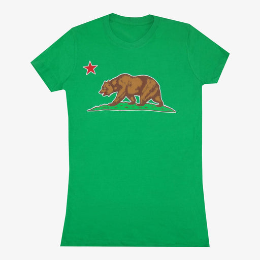 Aksels Women's California Grizzly Bear T-Shirt - Green