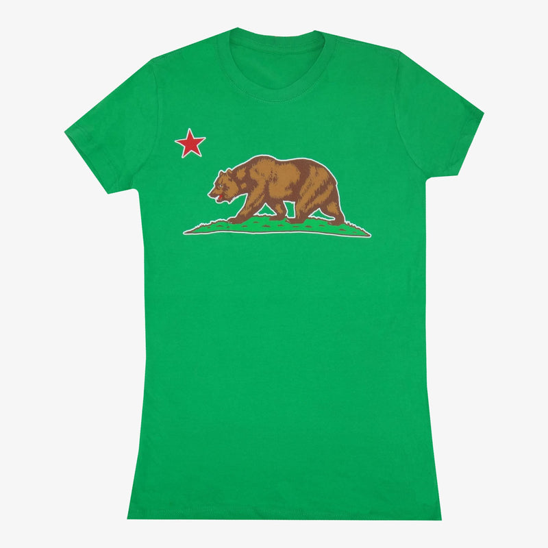 Aksels Women's California Grizzly Bear T-Shirt - Black