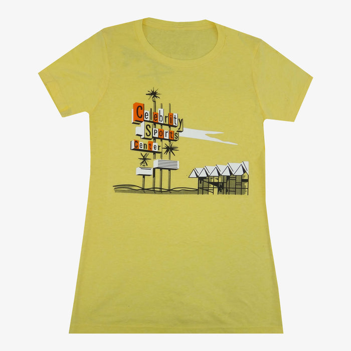 Women's Celebrity Sports T-Shirt - Yellow