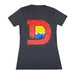 Women's Denver D T-Shirt - Charcoal/Red