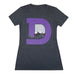 Women's Denver D T-Shirt - Charcoal/Purple