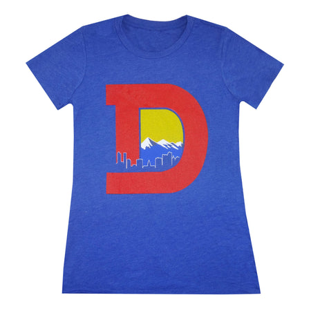 Women's Denver D T-Shirt - Charcoal/Orange