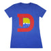 Women's Denver D T-Shirt - Royal/Red