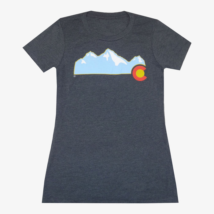 Women's Colorado Mountain T-Shirt - Charcoal
