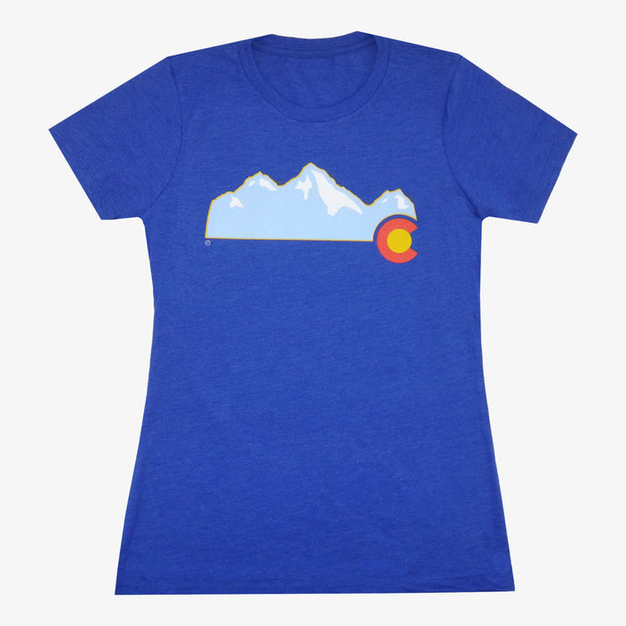 Women's Colorado Mountain T-Shirt - Royal