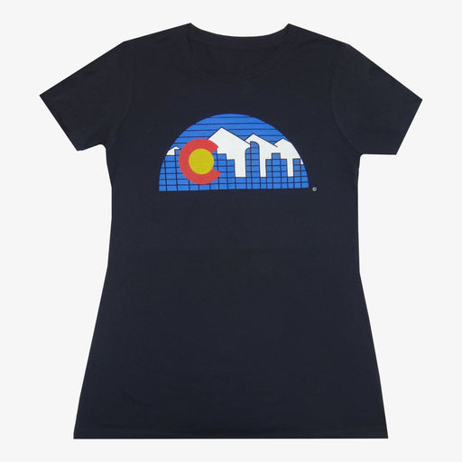 Women's Denver Skyline T-Shirt - Black