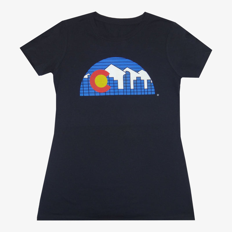 Women's Denver Skyline T-Shirt - Charcoal