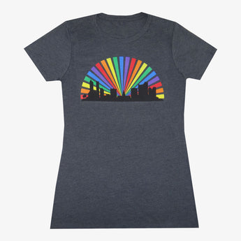 Women's Denver Skyline Rainbow T-Shirt