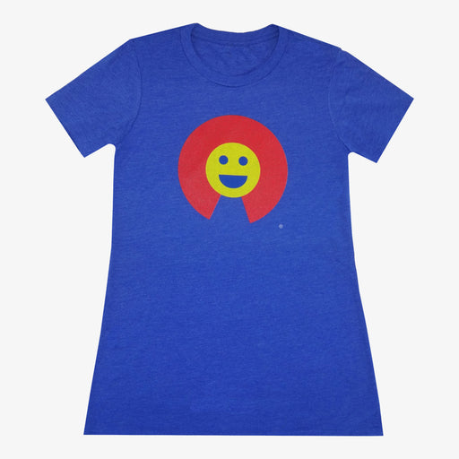 Women's Colorado Smiley T-Shirt - Royal