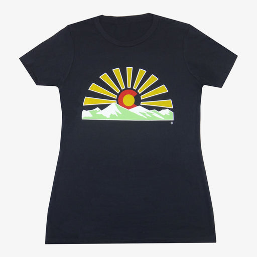Women's Colorado Sunset T-Shirt - Black
