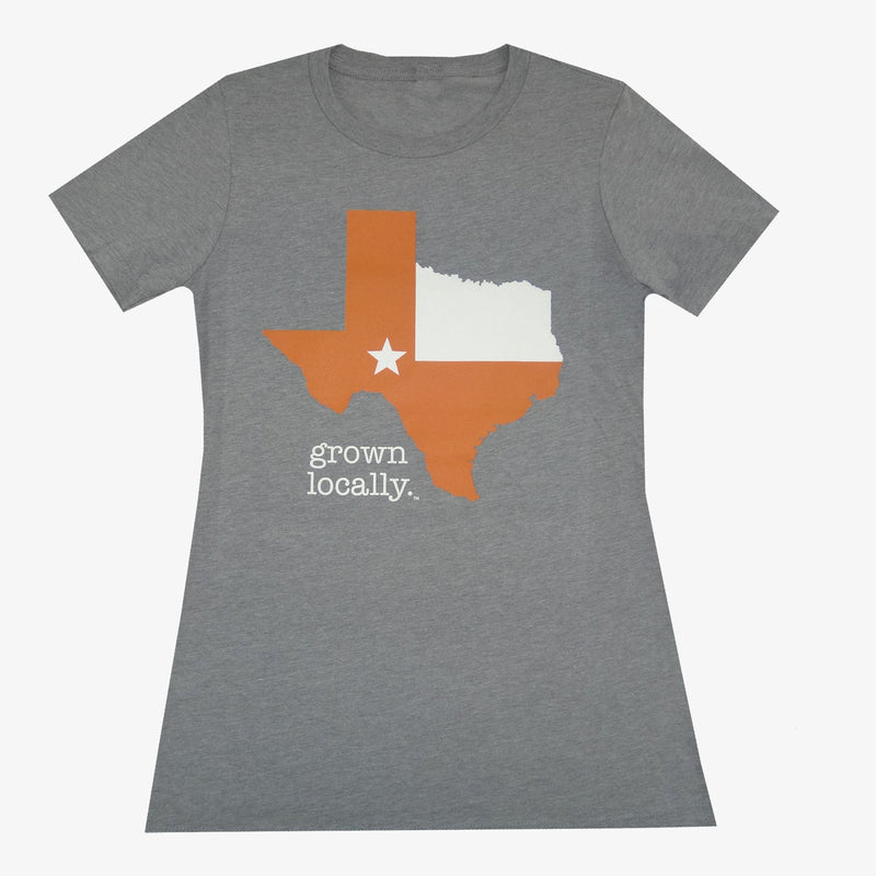 Women's Grown Locally Texas T-Shirt - Orange/Black