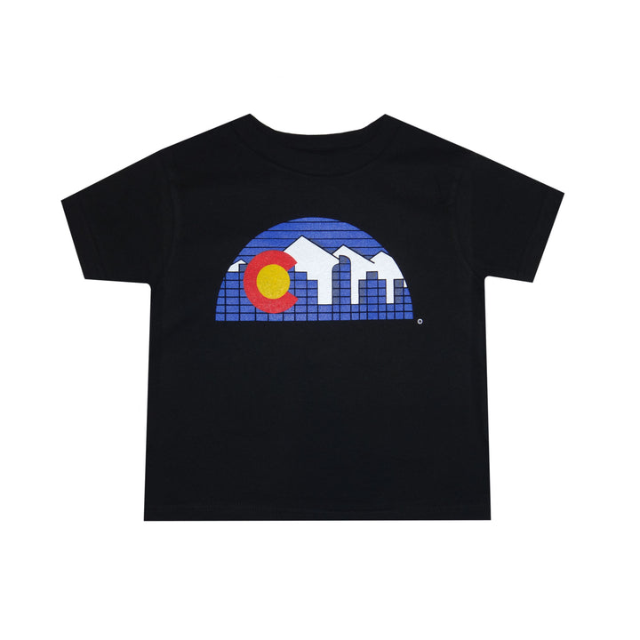 Colorado Skyline Toddler T-Shirt Black